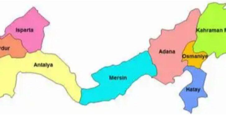 Akdeniz Bölgesi'nin illeri