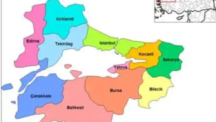 """Marmara bölgesi""""nin illeri"""