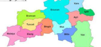 Doğu Anadolu'nun illeri