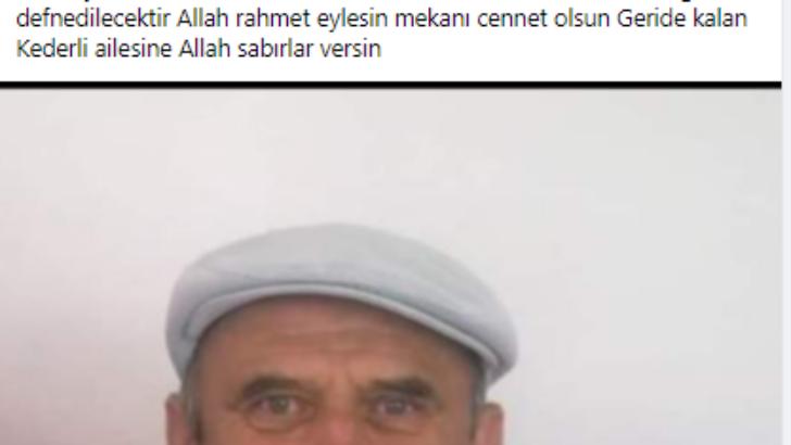 Vefat haberi Mehmet Aydın 01.02.2021