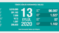 13 Eylül 2020 Koronavirüs Tablosu